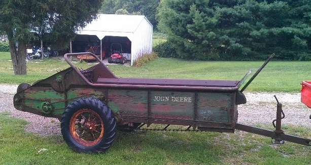 John Deere Manure Spreader Before Restoration