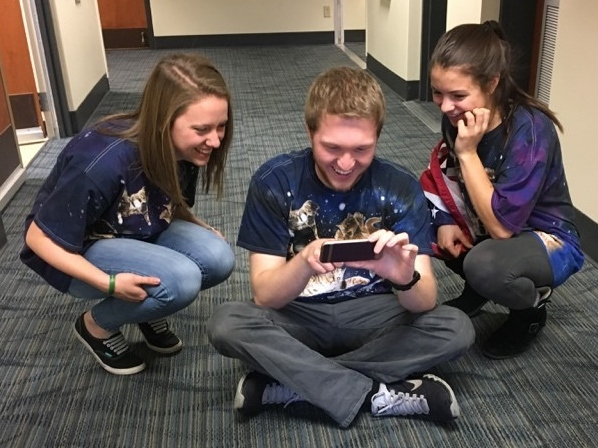 Group projects tend to be more creative and fun when working with friends. Just notice the matching galaxy cat shirts we wore for a team intro video used as a part of our final project in computer simulation!